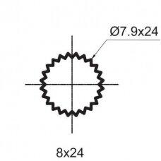 Ventilis  3/8 8×24