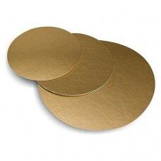 Vienkartinis auksinis apvalus padėklas  36 cm