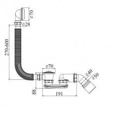 Vonios/dušo sifonas D40/50