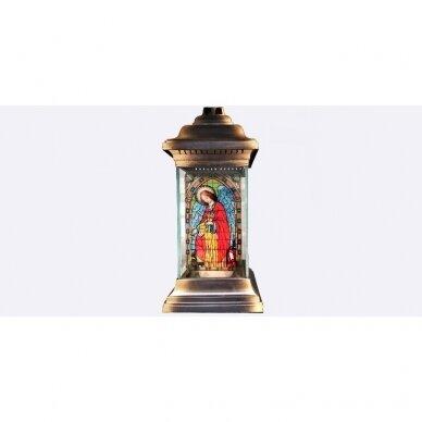 Žvakė žibintas Vitražas ,su įdėklu